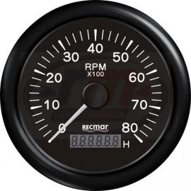 CUENTAVUELTAS 1.0/10.0 - 0/8000 rpm NEGR