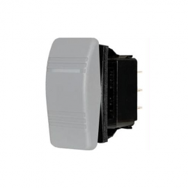 ROCKERSWITCH CONTURA DPDT ON-OFF-ON