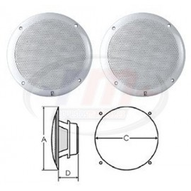 """INTEGRAL GRILL SPEAKERS 6"""" COAXIAL WHITE"""