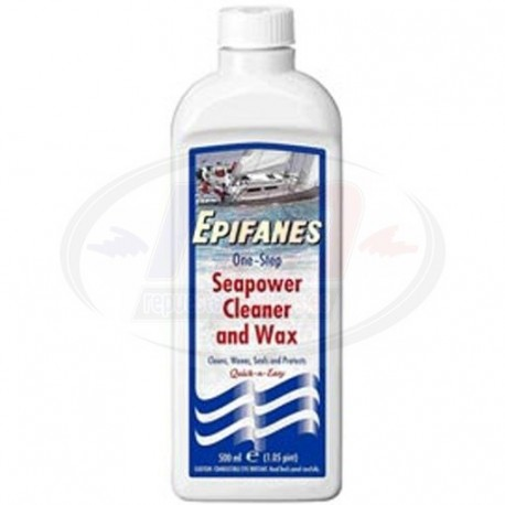SEAPOWER CLEANER & WAX 500ml.